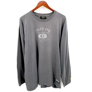 Gold's Gym Gray Long Sleeve Logo T-Shirt XL